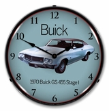 LED Lighted 1970 Buick GS 455 Stage 1 Clock