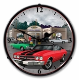LED Lighted 1970 Chevelle Clock