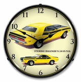 LED Lighted 1970 Dodge Challenger TA 340 Six Pack Clock
