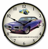 LED Lighted 1970 Dodge Coronet Super Bee Clock
