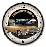 LED Lighted 1970 Monte Carlo Clock