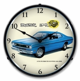 LED Lighted 1970 Plymouth Duster 340 4BBL Clock