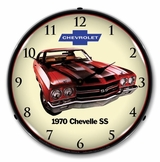 LED Lighted 1970 SS Chevelle Clock
