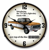 LED Lighted 1971 Chevrolet Truck Clock