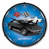 LED Lighted 1971 Corvette Stingray Black Clock