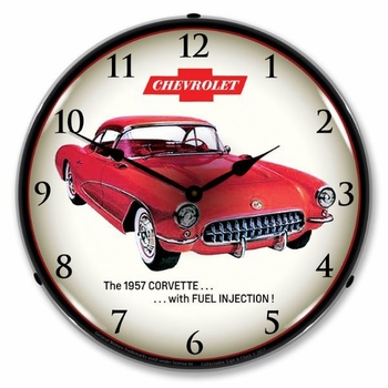 LED Lighted 1957 Corvette Fuel Injection Clock
