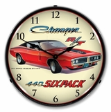 LED Lighted 1971 Dodge Charger 440 6 Pack Clock