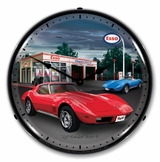 LED Lighted 1974 Corvette Clock