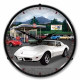 LED Lighted 1976 Corvette Clock