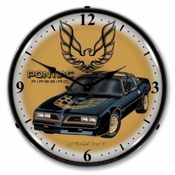 LED Lighted 1977 Pontiac Firebird Clock