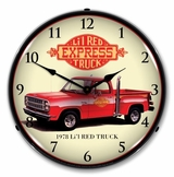 LED Lighted 1978 Little Red Truck Clock