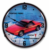 LED Lighted 1984 Pontiac Fiero Clock