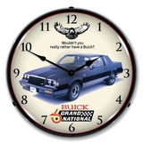 LED Lighted 1987 Buick Grand National Clock