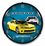 LED Lighted 2014 SS Camaro Bright Yellow Clock
