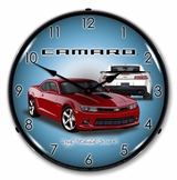 LED Lighted 2014 SS Camaro Crystal Red Clock