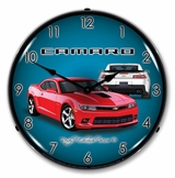 LED Lighted 2014 SS Camaro Red Hot Clock