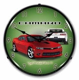 LED Lighted 2014 SS Camaro Red Rock Clock