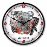 LED Lighted 283 Fuelie v8 Clock