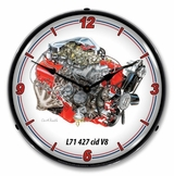 LED Lighted 427 cid v8 L71 Clock