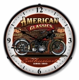 LED Lighted American Classic Bike Clock