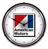LED Lighted American Motors Clock
