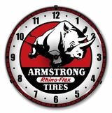 LED Lighted Armstrong Tire Clock