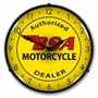 LED Lighted BSA Motorcycle Clock