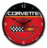 LED Lighted C4 Corvette Clock