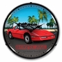 LED Lighted C4 Red Corvette Clock