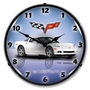 LED Lighted C6 Corvette Arctic White Clock