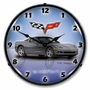 LED Lighted C6 Corvette Cyber Grey Clock