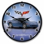 LED Lighted C6 Corvette Supersonic Blue Clock