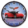 LED Lighted C6 Corvette Torch Red Clock