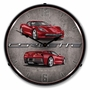 LED Lighted C7 Corvette Crystal Red Clock