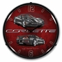 LED Lighted C7 Corvette Cyber Grey Clock