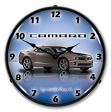 LED Lighted Camaro G5 Cyber Grey Clock