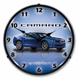 LED Lighted Camaro G5 Imperial Blue Clock