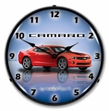 LED Lighted Camaro G5 Victory Red Clock