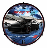 Lighted Challenger Pitch Black Clock