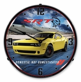 LED Lighted Challenger Yellow Jacket Clock