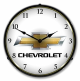 LED Lighted Chevrolet Bowtie Clock