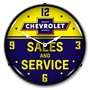 LED Lighted Chevrolet Bowtie Sales and Service Clock