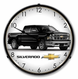 LED Lighted Chevrolet Silverado Black Clock