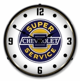 LED Lighted Chevrolet Super Service Clock