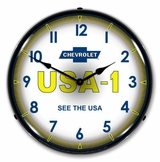 LED Lighted Chevrolet USA 1 Clock