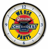 LED Lighted Chevy Parts W/numbers Clock