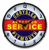 LED Lighted Chrysler Plymouth Service Clock