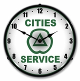 LED Lighted Cities Services Clock