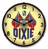 LED Lighted Dixie Gas Clock