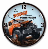 LED Lighted Dodge Power Wagon Clock
